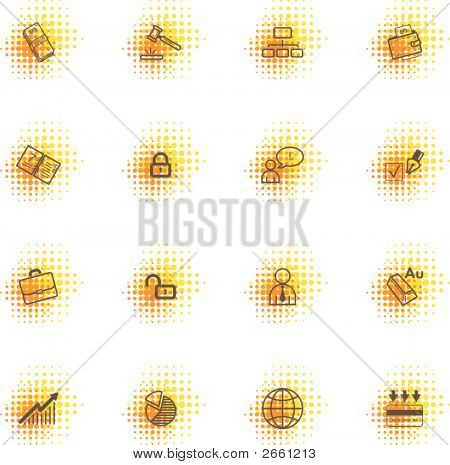 Business Icons, Dots Series