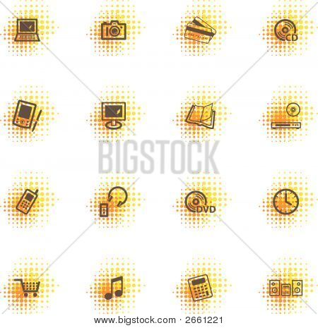 Electronics Icons, Dots Series