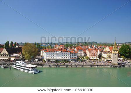 Port of Lindau island, Germany