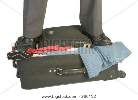 Overfilled Suitcase