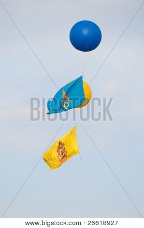 Royal Banners In Thailand