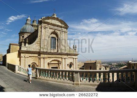 Caltagirone tourist and church of Santa Maria del Monte