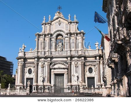 Catania the cathedral of Santa Agata in the square Duomo