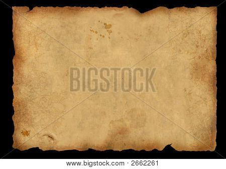 Background - A Piece Of Old, Fragmentary Parchment