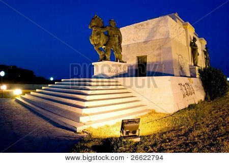 Grave of unknown soldier deceased in war of Africa a Siracusa