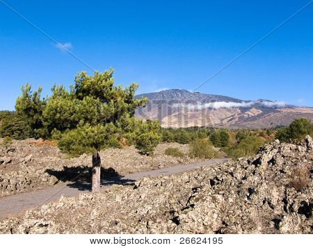 The volcano Etna