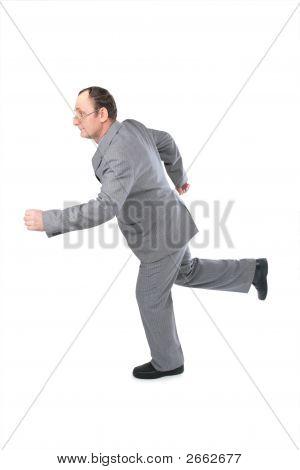 Running Senior Business Man 2