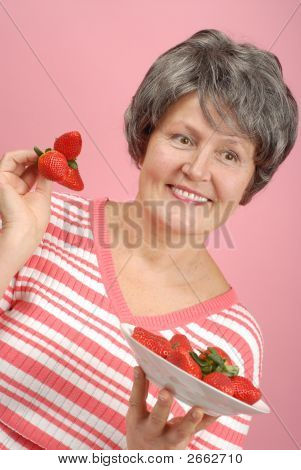 Senior With Strawberries