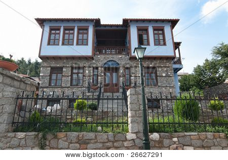 traditional house ottoman in old village of Xanthi, Greece