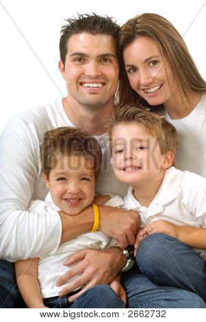 Attractive Young Family