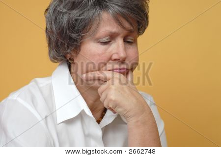 Sad Older Woman