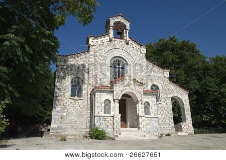 small church orthodox in a woods of peninsula of Pelion