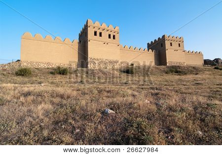 reconstruction of the walls of the ancient Hittite city of Hattusa, Turkey