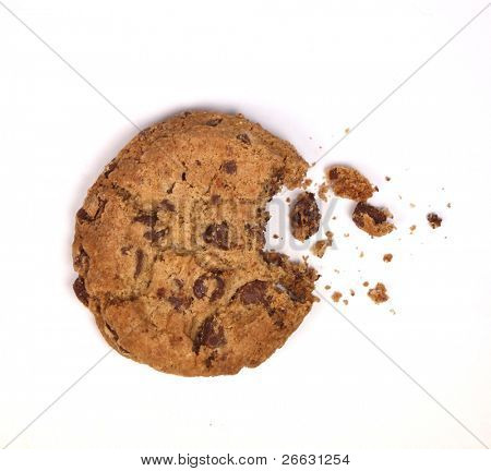 Delicious biscuit on white background