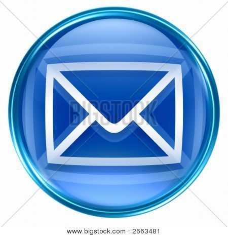 Postal Envelope Blue