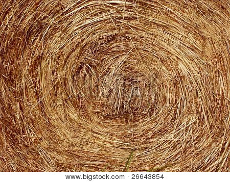 Detail of a hay bail background