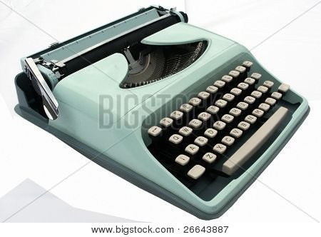 Vintage blue typerwriter