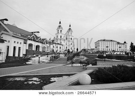 Área no centro de Minsk