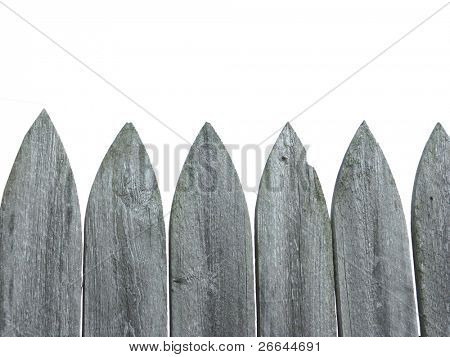 Wooden fence with white space on top for text