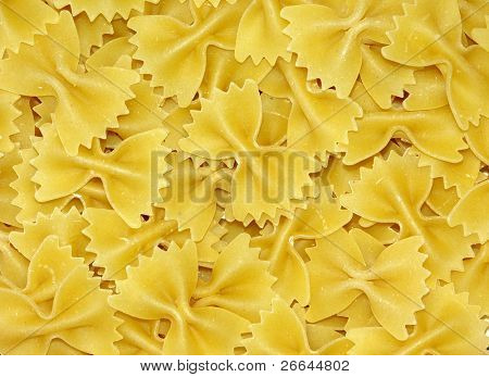 Bowtie pasta background