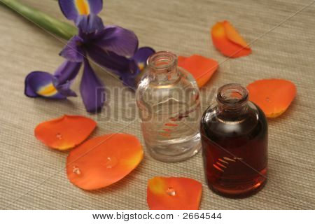 Two Bottles With Oil