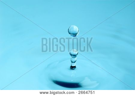 Isolated Water Droplet With Splash