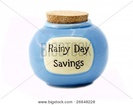 Rainy Day Savings jar