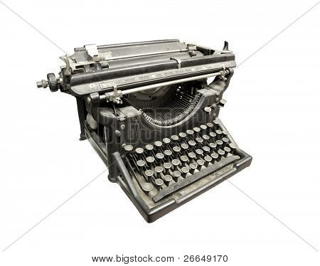 Vintage typewriter in gray