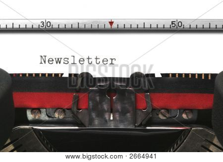 Typewriter Newsletter