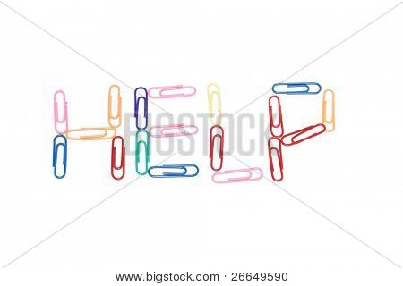 Help sign in paper clips