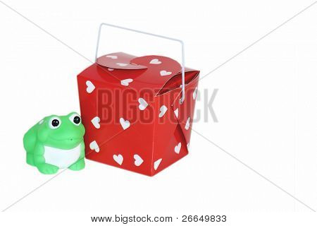 Frog with red box
