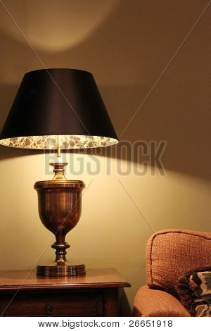 Lamp with couch