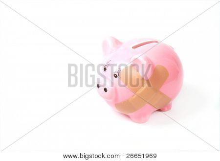 Hurt piggy bank