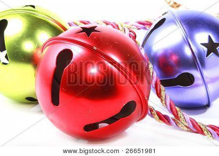 Closeup of Christmas ornaments