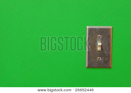 Electric switch with space for text