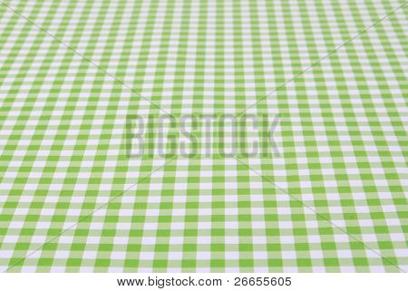 Green tablecloth