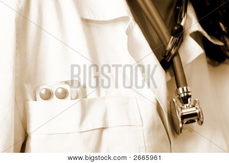 Portrait Of A Young Doctor With Stethoscope.