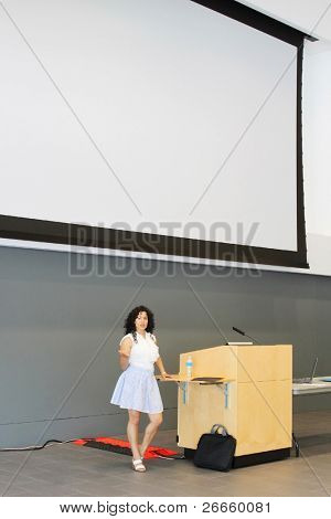 Woman doing presentation