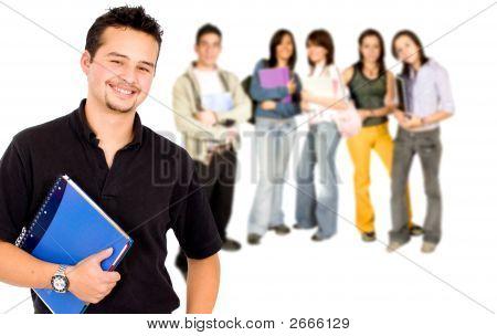 College-Student lächelnd