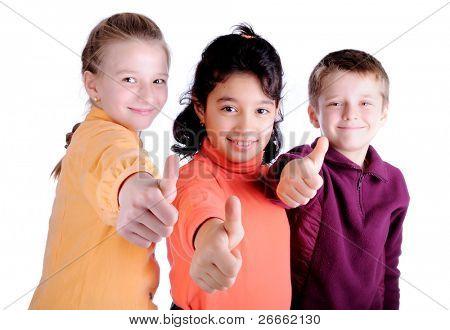 happy three child