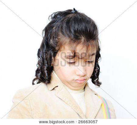 sad school girl