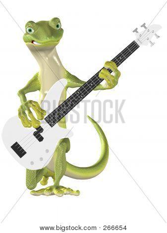 Gecko en contrabajo