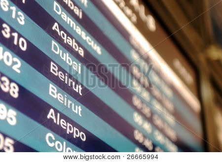 Airport Arrivals Departure Board