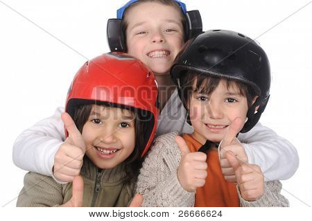 Happiness without limit, happy children together with thumping