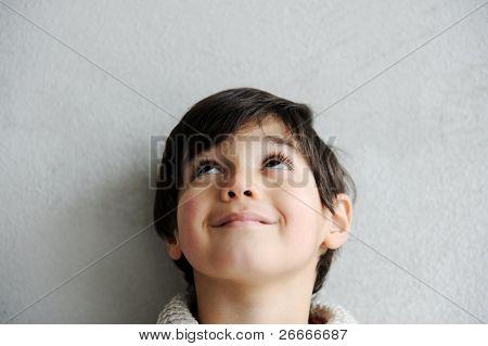 Happy thinking boy