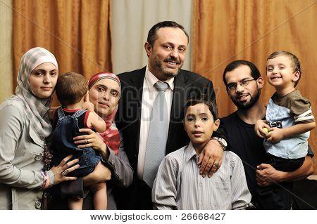 Muslim Arabic family indoor