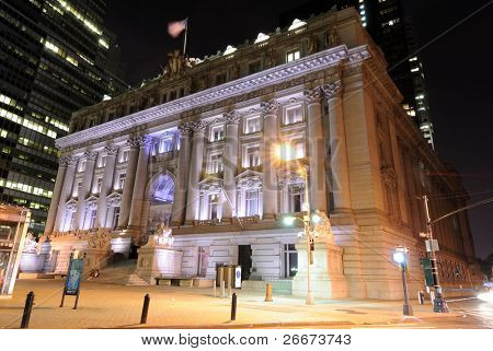 Customs house of the United States of America in Lower Manhattan, New York City. Now a Native American Museum.