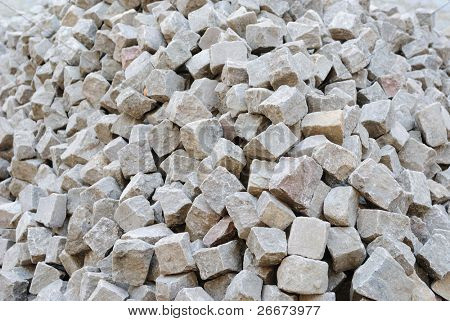 a pile of cobblestones