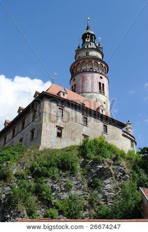 Krumlov Castle in Cesky Krumlov, Czech Republic.