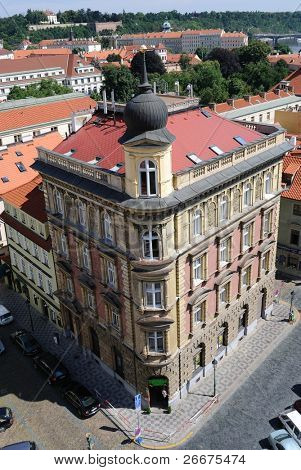 Roofline in Prague, Czech Republic.